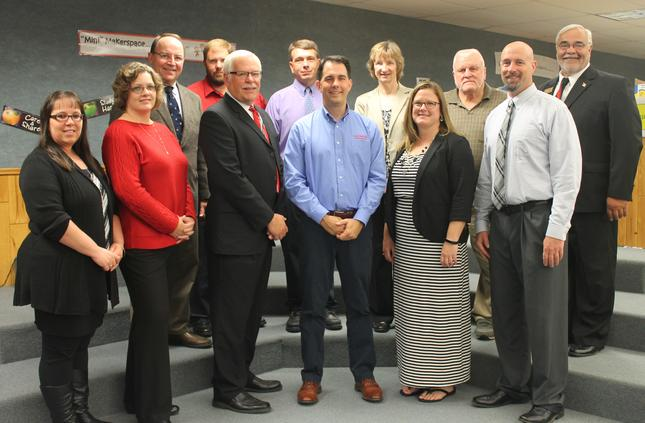Wausaukee Schools Welcome Gov. Walker, Sen. Tiffany & Rep. Mursau